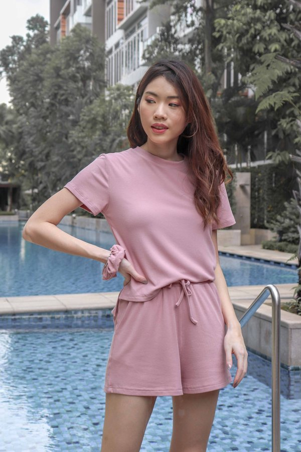 Milla Lounge Wear in Dusty Pink