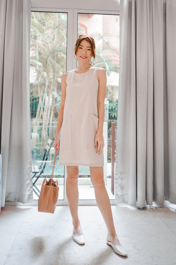 Odessa Shift Dress in Sand
