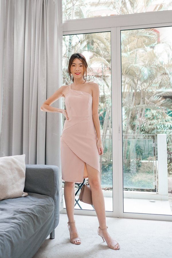 Ellen Toga Dress in Nude