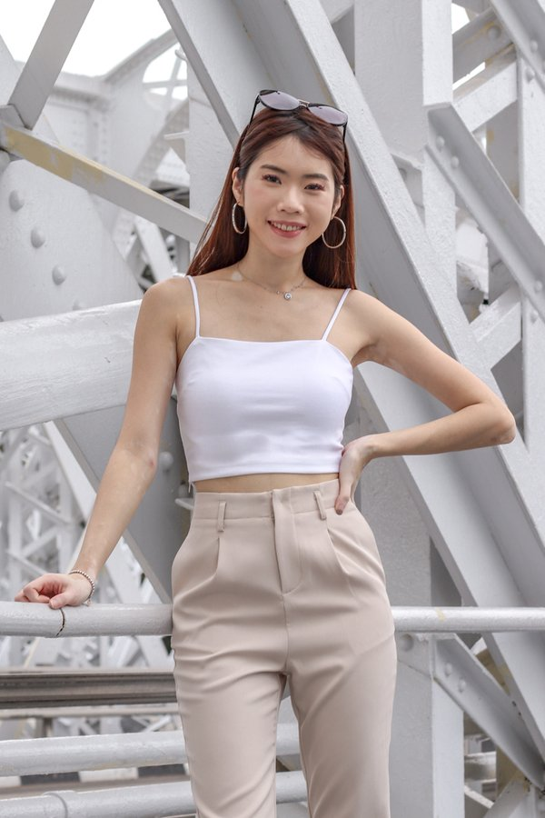 Rica V2 Crop Top in White