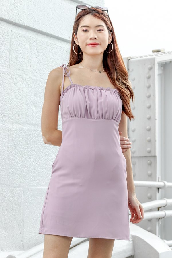 Quinn Dress Romper in Lilac