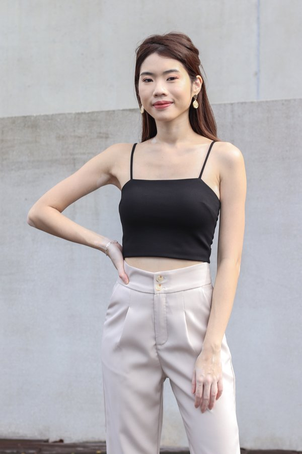Rica V2 Padded Crop Top in Black