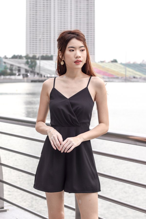 Katelyn Romper in Black