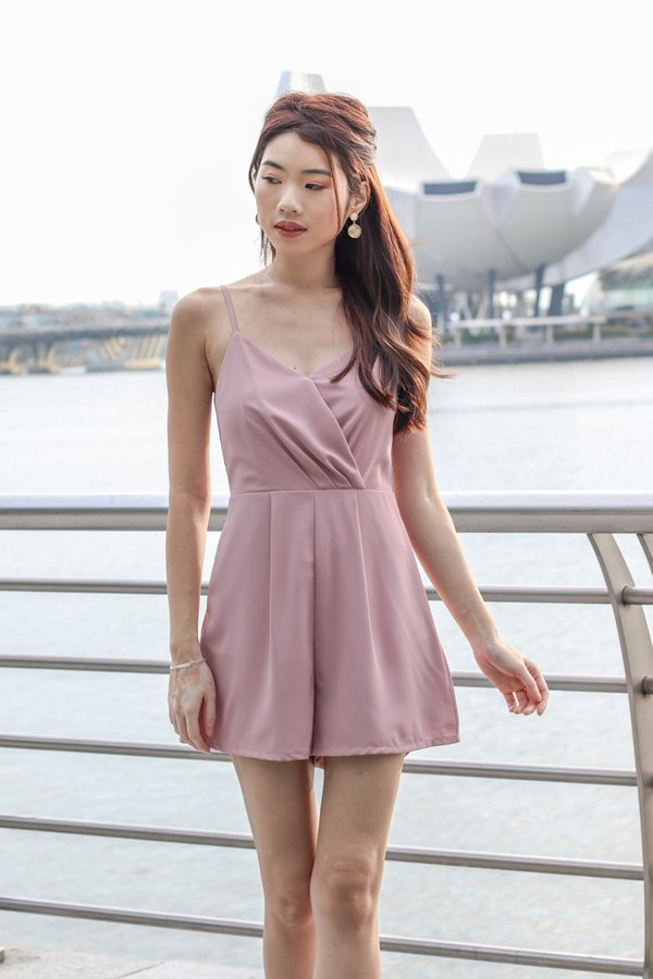 Katelyn Romper in Pink