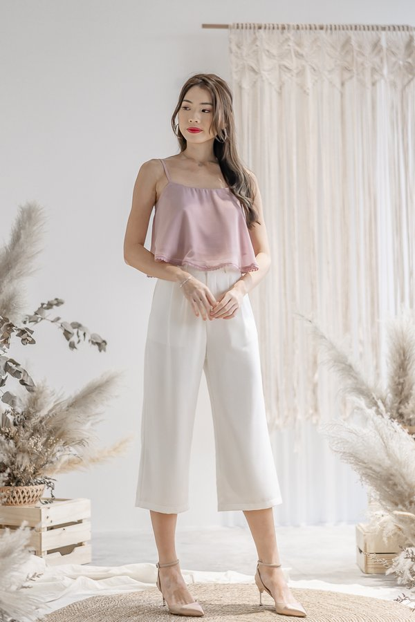 Penelope Culottes in White