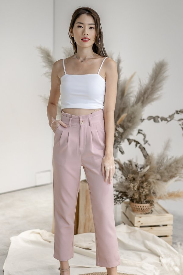 Isabelle Paper Bag Pants in Pink