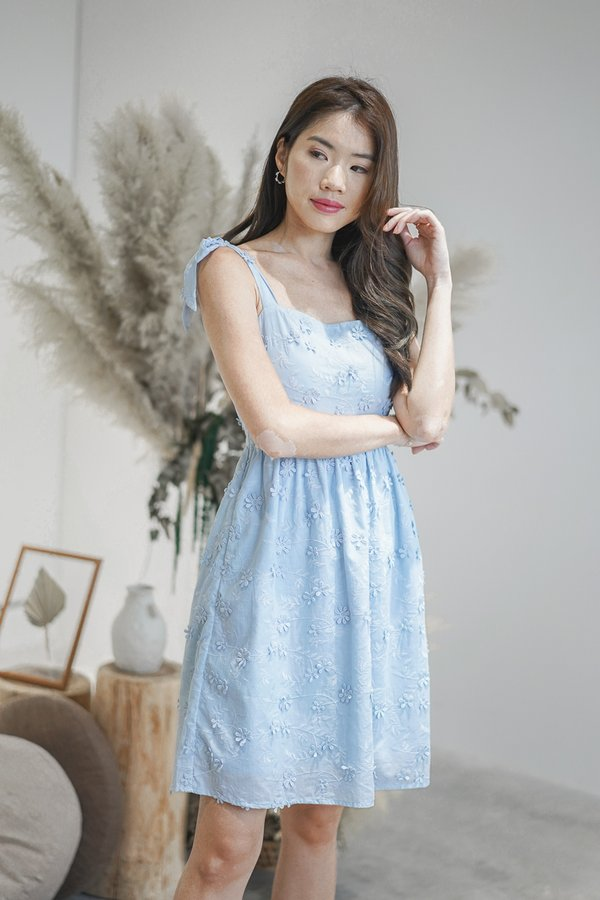Genesis Embroidery Dress in Baby Blue