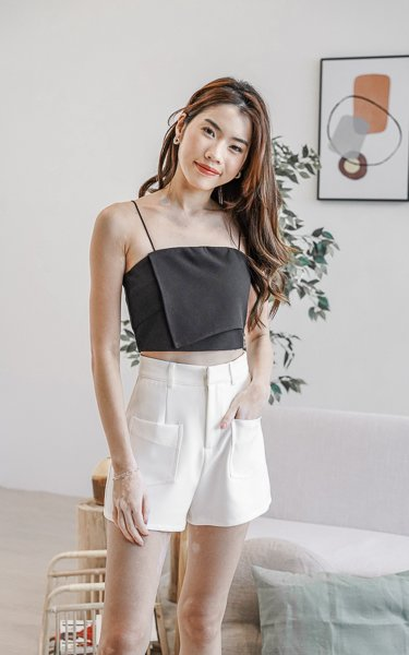 Thalia High Waist Shorts in White